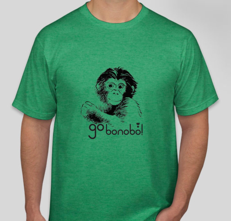 Green go bonobo t-shirt